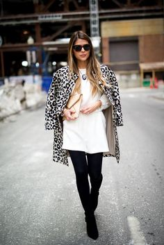 Spring is right around the corner, but it's still pretty chilly in Boston. Fortunately, the day I wore this look it was actually not too bad. I've wanted to get a leopard coat for a while now and I noticed this one at Ann Taylor and was immediately drawn to it. #cravingspring #thegirlfrompanama