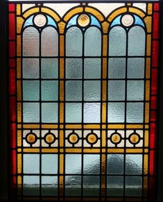 Glas in lood raam ca 1900 - 1910 voorzetraam cathedraalglas stainedglas windows dutch
