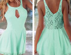 P.S. I Love You More Boutique | Mint Lace Playsuit | Summer Fashion 2014  www.psiloveyoumoreboutique.com