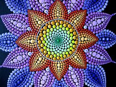 Texto original en. Pintura Mandala original por AnnaSmirnova74 Mandala Art, Mandala Canvas, Mandala Rocks, Mandala Painting, Mandala Pattern, Mandala Design, Dot Art Painting, Stone Painting, Aboriginal Dot Art
