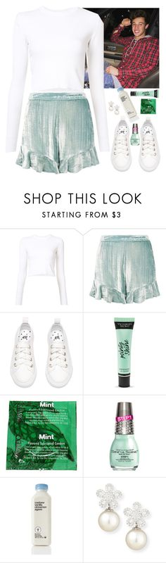 """""""night drive w/ Cameron"""" by baeisme ❤ liked on Polyvore featuring Proenza Schouler, Topshop, Victoria's Secret, SinfulColors and Belpearl"""