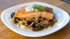 Salmon on Rice and Mushrooms https://500px.com/photo/240635893/salmon-on-rice-and-mushrooms-by-mike-moses?utm_campaign=crowdfire&utm_content=crowdfire&utm_medium=social&utm_source=pinterest