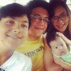 Ryan, Gabriel , Olivia filhos e Lorenzo, neto.