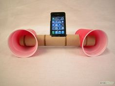 Smartphone Speaker System -- trying this the next time I run out of paper towels