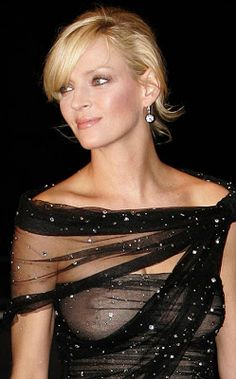 uma thurman. Pretty woman, pretty dress, pretty... Nipples? Um no. I don't want or need to see your nipple, Uma.