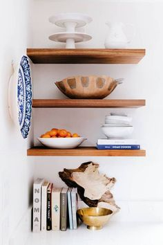Here's a pretty display of shelves. For more inspiration visit kaboodle.com.au