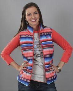 27c3c20218a29 Ariat® Ladies  Zooey Serape Print Vest - Fort Brands