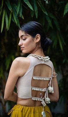 21 latest blouse back neck designs 11 Choli Blouse Design, Choli Designs, Sari Blouse Designs, Designer Blouse Patterns, Blouse Back Neck Designs, Fancy Blouse Designs, Blouse Designs Catalogue, Stylish Blouse Design, Indian Designer Outfits