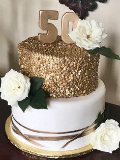 50th Anniversary Wishes, Golden Anniversary Cake, 50th Wedding Anniversary Decorations, Golden Wedding Anniversary, Birthday Cake For Women Simple, Aniversary Cakes, Birthday Celebration, Papi, Daddy