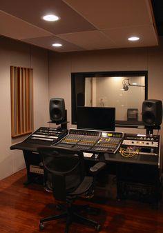 studio B at clear track studios Home Studio Setup, Music Studio Room, Studio Gear, Studio Interior, Interior Design, Studio Design, House Design, Music Machine, Music Studios