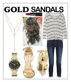 """""""Golden Fall Day"""" by emrose505 ❤ liked on Polyvore featuring Wild Diva, Frame Denim, Splendid, Vince Camuto, NARS Cosmetics and Marc by Marc Jacobs"""