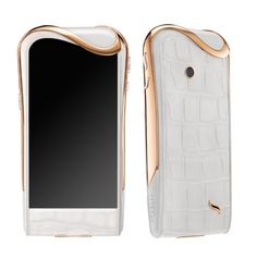 Extremely feminine and pure-looking: White Ice is Julia Restoin Roitfeld's favourite Savelli model.   http://www.savelli-geneve.com/en/collection/phone/white-ice/