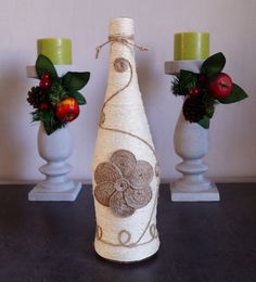 Flasche Dekor Weinflasche Dekor verziert Weinflaschen