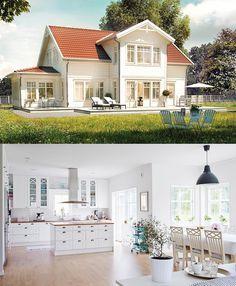 B:033 är ett charmigt hus med glasveranda. Villan är designad enligt vår kollektion Vintage Living m - trivselhus