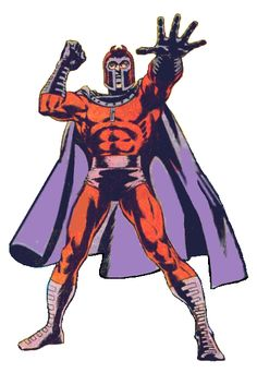 """""""The color of Magneto's costume symbolizes both his pain as a Holocaust survivor and his pride as a mutant."""" Here he stands, strong and powerful. Yet, he is a symbol of victimization, just as much as he is a symbol of racial (mutant) dominance. Magneto Costume, Brand Archetypes, Holocaust Survivors, The Uncanny, Man Humor, Superwholock, X Men, Character Art, Marvel Comics"""