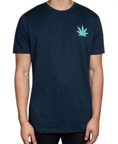 Huf - Leaves T-Shirt (Blue) - $28