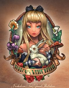 Tim Shumate Illustrations pinup Alice in Wonderland Disney Princess