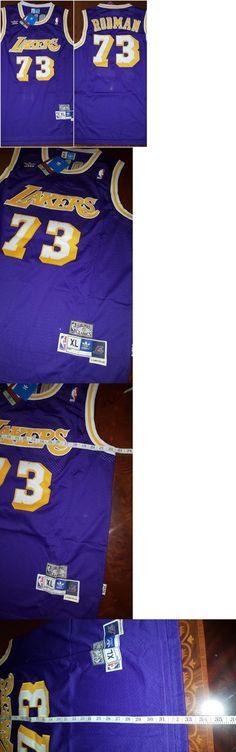 9656faac ... sale jerseys basketball nba 24442 nwt dennis rodman los angeles 73  lakers purple mens xl .