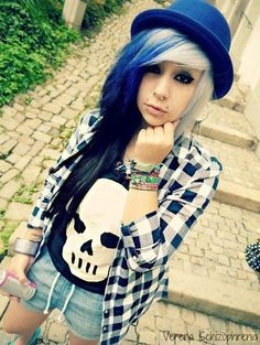 #outfit #hair #scene #piercings #mystyle