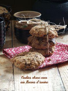 Ces p'tit cookies m'ont fait de l'œil chez Maryse, elle-même avait succombé à leur charme chez Graziella de Made in cooking. Maryse avait remplacé les raisins sec par des pépites de chocolat et moi j'ai remplacé une partie des flocons d'avoine par de...