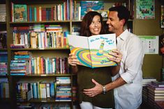 Maternity Pictures with Ava's books...