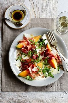 Melon, prosciutto and pecorino salad: Recipes: Good Food Channel Easy Dinner Party Recipes, Dinner Parties, Xmas Recipes, Skinny Recipes, Healthy Recipes, Dinner Party Starters, Good Food Channel, Xmas Food, Christmas Cooking
