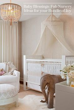 Whether you've got a bun in the oven or your bundle of joy has already arrived, here are some delightfully awesome nursery ideas for baby girls & boys!