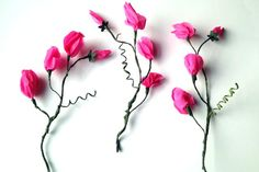 Crepe Paper Sweet Pea Tutorial: How to Make a Crepe Paper Sweet Pea: Parts of the flower: Step 7 Crepe Paper Crafts, Crepe Paper Flowers, Origami Flowers, Paper Roses, Diy Flowers, Paper Crafting, Flower Diy, Handmade Flowers, Tissue Paper