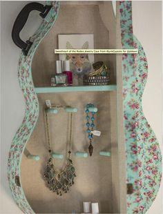 Junk Gypsy guitar case--idea for repurposed jewelry tree