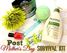 This Post Mother's Day Survival Kit runs the world! #ad #swissherbs