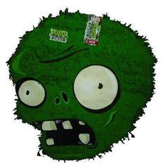 piñata plantas vs zombies Zombie Kid, Zombie Party, Zombie Birthday, 5th Birthday, Birthday Ideas, Zombies Vs, Plantas Versus Zombies, How To Make Pinata, Ideas Para Fiestas