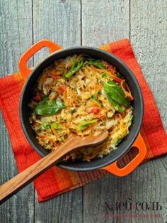 Тушеная капуста с кориандром и томатами - фото рецепт