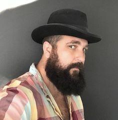 Over images of beautiful bearded men; Beard Images, Beard Head, Handsome Bearded Men, Beard Quotes, Pork Pie Hat, Beard Lover, Beard Care, Men's Grooming, Beard Styles