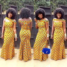 Check Out This Beautiful Ankara Gown Style http://www.dezangozone.com/2016/09/check-out-this-beautiful-ankara-gown.html