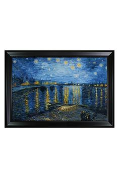 Vincent Van Gogh Starry Night Over the Rhone Framed Hand Painted Oil on Canvas
