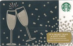 Cheers - Released on November 2014 as part of the 99 issue Starbucks Card Holiday line-up, this Card is called Cheers. Starbucks Rewards, Starbucks Gift Card, Cheers, Holiday, November, Cards, Gifts, November Born, Vacations