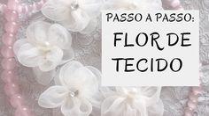 Passo a Passo de  Flor de Tecido | Super Fácil | Produzindo Laços e Tiaras