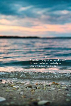 ¿a qué sabe el mar?* a qué sabe amar?