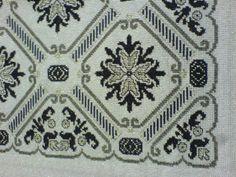 Cross Stitch Charts, Cross Stitch Patterns, Cross Stitches, Blackwork, Cross Stitch Cushion, White Crosses, Embroidery Art, Bohemian Rug, Blue And White