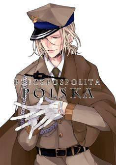 """Poland<--- he look like a France in """"normal"""" uniform Poland Hetalia, Bad Touch Trio, North Europe, Spamano, Hetalia Characters, Hetalia Fanart, Hetalia Axis Powers, Fandom, Valley Girls"""
