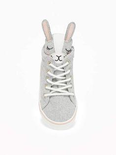 1d540e3331e Bunny Felt High-Tops for Toddler Girls   Baby Bunny Face