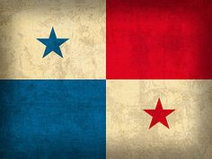 Panama Flag Art - Panama Flag Vintage Distressed Finish by Design Turnpike