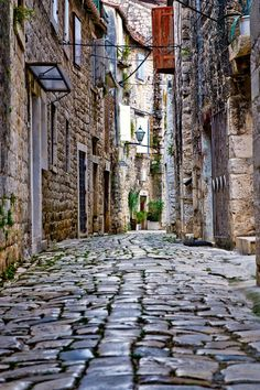 Most Beautiful Places in Croatia:  Stone street in Trogir
