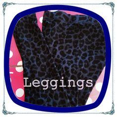 Like New Pink Victoria's Secret Leggings Like new Pink Victoria's Secret blue and black animal print flat waistband straight leg leggings.  Size large. PINK Victoria's Secret Pants Leggings