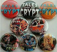 Buttons Pins Crypt Keeper Tales From the Crypt via shared by