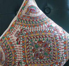 Gorgeous MadhuBani Pillows by sensitivecreations on Etsy, $25.00