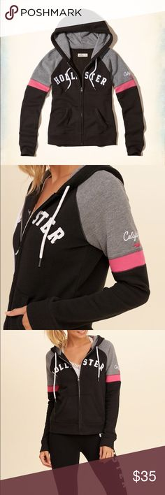 Hollister Hoodie Super stylish Hollister hoodie. Brand New with Tags. Hollister Tops Sweatshirts & Hoodies