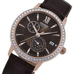 Orient Ladies Watch RA-AK0005Y10B Swarovski Watches, Orient Watch, Watches For Men, Ladies Watches, Stainless Steel Case, Jewelry Stores, Swarovski Crystals, Rose Gold, Jewels