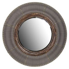 "Colette Wall Mirror 32"" - would be amazing with the phillip jeffries rivet wallcovering"