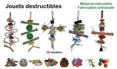 destructible toys for budgies, parakeets and parrots
